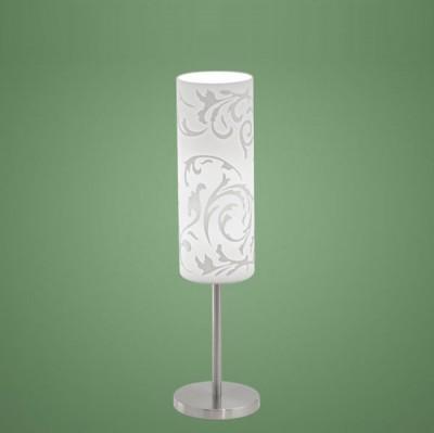 Eglo AMADORA 90051 Настольная лампаСовременные<br>Австрийское качество модели светильника Eglo 90051 не оставит равнодушным каждого купившего! Матовое закаленное стекло(пр-во Чехия), Никелированный глянцевый корпус, с выключателем, Класс изоляции 2 (двойная изоляция), IP 20, освещенность 1240 lm ,Н=460D=105,1X100W,E27.<br><br>S освещ. до, м2: 6<br>Тип лампы: накаливания / энергосбережения / LED-светодиодная<br>Тип цоколя: E27<br>Количество ламп: 1<br>MAX мощность ламп, Вт: 2<br>Диаметр, мм мм: 105<br>Размеры основания, мм: 120<br>Высота, мм: 460<br>Оттенок (цвет): белый<br>Цвет арматуры: серый<br>Общая мощность, Вт: 1X60W