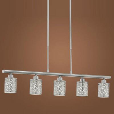 Eglo ALMERA 1 90075 Светильник подвеснойПодвесные<br>Австрийское качество модели светильника Eglo 90075 не оставит равнодушным каждого купившего! Матовое закаленное стекло(пр-во Чехия), Никелированный глянцевый корпус, Класс изоляции 2 (двойная изоляция), IP 20, освещенность 2418 lm ,L=915Н=1100,5X40W,E14.<br><br>Установка на натяжной потолок: Да<br>S освещ. до, м2: 13<br>Крепление: Планка<br>Тип лампы: накаливания / энергосбережения / LED-светодиодная<br>Тип цоколя: E14<br>Количество ламп: 5<br>MAX мощность ламп, Вт: 40<br>Размеры основания, мм: 0<br>Длина, мм: 915<br>Высота, мм: 1100<br>Оттенок (цвет): белый<br>Цвет арматуры: серый<br>Общая мощность, Вт: 5X40W