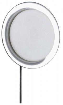 Светильник бра Brilliant G90096B15Хай-тек<br><br><br>S освещ. до, м2: 2<br>Тип товара: Светильник настенно-потолочный<br>Тип лампы: галогенная / LED-светодиодная<br>Тип цоколя: G9<br>Количество ламп: 1<br>MAX мощность ламп, Вт: 40<br>Диаметр, мм мм: 195<br>Высота, мм: 300<br>Цвет арматуры: серебристый