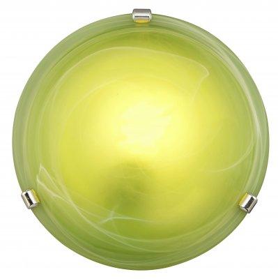 Светильник зеленый Brilliant 90103/74 Mauritiusснятые с производства светильники<br>Настенно-потолочные светильники – это универсальные осветительные варианты, которые подходят для вертикального и горизонтального монтажа. В интернет-магазине «Светодом» Вы можете приобрести подобные модели по выгодной стоимости. В нашем каталоге представлены как бюджетные варианты, так и эксклюзивные изделия от производителей, которые уже давно заслужили доверие дизайнеров и простых покупателей.  Настенно-потолочный светильник Brilliant 90103/74 станет прекрасным дополнением к основному освещению. Благодаря качественному исполнению и применению современных технологий при производстве эта модель будет радовать Вас своим привлекательным внешним видом долгое время. Приобрести настенно-потолочный светильник Brilliant 90103/74 можно, находясь в любой точке России. Компания «Светодом» осуществляет доставку заказов не только по Москве и Екатеринбургу, но и в остальные города.<br><br>S освещ. до, м2: 4<br>Тип лампы: накаливания / энергосбережения / LED-светодиодная<br>Тип цоколя: E27<br>Цвет арматуры: серебристый хром<br>Количество ламп: 1<br>Диаметр, мм мм: 300<br>Высота, мм: 90<br>Оттенок (цвет): зеленый<br>MAX мощность ламп, Вт: 60