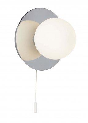 Светильник настенный Brilliant G90110B15Модерн<br>Зачастую мы ищем идеальное освещение для своего дома и уделяем этому достаточно много времени. Так, например, если нам нужен светильник с количеством ламп - 1 и цвет плафонов должен быть - белый, а материал плафонов только стекло! То нам, как вариант, подойдет модель - светильник настенный Brilliant G90110B15.<br><br>S освещ. до, м2: 1<br>Тип лампы: галогенная / LED-светодиодная<br>Тип цоколя: G9<br>Количество ламп: 1<br>MAX мощность ламп, Вт: 25<br>Диаметр, мм мм: 120<br>Цвет арматуры: серебристый