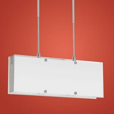 Eglo Indo 1 90145 СветильникДлинные 4+<br>Отличный подвесной светильник выполненный в стиле модерн австрийского производства. Плафон выполнен в белом цвете, что дает мягкий и немного рассеянный свет. Строгие прямоугольные формы привносят в дизайн ощущение силы и жесткости, что подчеркивается блестящей никелированной поверхностью арматуры. В подвесах светильника используется замечательное решение позволяющее легко и просто регулировать высоту светильника, что дает по истине широкий спектр применения в комнатах с разной высотой потолка.<br><br>S освещ. до, м2: до 6<br>Тип товара: Светильник<br>Скидка, %: 50<br>Тип лампы: галогенная<br>Тип цоколя: G9<br>Количество ламп: 3<br>Ширина, мм: 450<br>MAX мощность ламп, Вт: 9W<br>Высота, мм: 1200<br>Цвет арматуры: серебристый никель