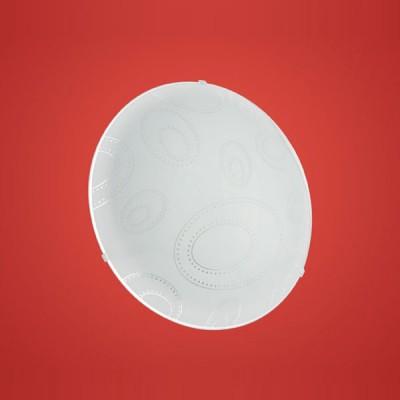 Eglo SCALEA 1 90151 Настенно-потолочный светильникКруглые<br>Австрийское качество модели светильника Eglo 90151 не оставит равнодушным каждого купившего! Матовое закаленное стекло(пр-во Чехия) вытравленный рисунок , основание сталь с защитным покрытием. Класс изоляции 2 (двойная изоляция), IP 20, освещенность 806 lm ,D=315,1X60W,E27.<br><br>S освещ. до, м2: 4<br>Тип лампы: накаливания / энергосбережения / LED-светодиодная<br>Тип цоколя: E27<br>Количество ламп: 1<br>MAX мощность ламп, Вт: 2<br>Диаметр, мм мм: 315<br>Размеры основания, мм: 0<br>Расстояние от стены, мм: 100<br>Оттенок (цвет): белое покрытие, прозрачный<br>Цвет арматуры: белый<br>Общая мощность, Вт: 1X60W
