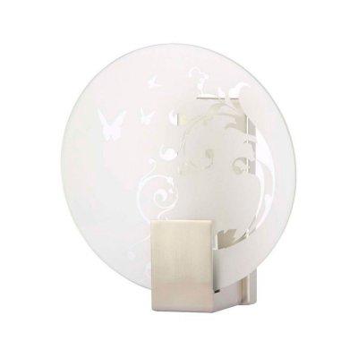 Светильник бра Brilliant 90174B13 SonianХай-тек<br>Зачастую мы ищем идеальное освещение для своего дома и уделяем этому достаточно много времени. Так, например, если нам нужен светильник с количеством ламп - 1 и цвет плафонов должен быть - белый с рисунком, а материал плафонов только стекло! То нам, как вариант, подойдет модель - Бра Brilliant 90174B13.<br><br>S освещ. до, м2: 2<br>Тип лампы: накаливания / энергосбережения / LED-светодиодная<br>Тип цоколя: E14<br>Количество ламп: 1<br>Ширина, мм: 190<br>MAX мощность ламп, Вт: 40<br>Диаметр, мм мм: 190<br>Выступ, мм: 80<br>Высота, мм: 210<br>Цвет арматуры: серебристый