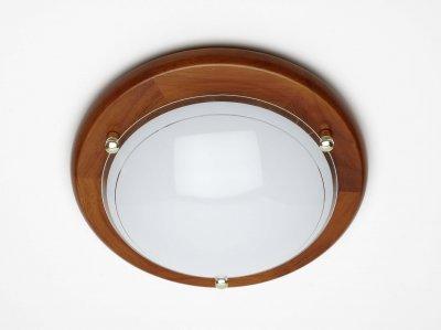 Светильник настенно-потолочный Brilliant 90181/35 Fidschiкруглые светильники<br>Зачастую мы ищем идеальное освещение для своего дома и уделяем этому достаточно много времени. Так, например, если нам нужен светильник с количеством ламп - 1 и цвет плафонов должен быть - белый с неокрашенной каймой, а материал плафонов только стекло! То нам, как вариант, подойдет модель - лампа настенная или потолочная Brilliant 90181/35.<br><br>S освещ. до, м2: 4<br>Тип лампы: накаливания / энергосбережения / LED-светодиодная<br>Тип цоколя: E27<br>Цвет арматуры: коричневый<br>Количество ламп: 1<br>Диаметр, мм мм: 300<br>Высота, мм: 85<br>MAX мощность ламп, Вт: 60