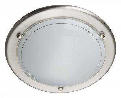 Светильник Brilliant 90191/13 MiramarКруглые<br>Настенно-потолочные светильники – это универсальные осветительные варианты, которые подходят для вертикального и горизонтального монтажа. В интернет-магазине «Светодом» Вы можете приобрести подобные модели по выгодной стоимости. В нашем каталоге представлены как бюджетные варианты, так и эксклюзивные изделия от производителей, которые уже давно заслужили доверие дизайнеров и простых покупателей.  Настенно-потолочный светильник Brilliant 90191/13 станет прекрасным дополнением к основному освещению. Благодаря качественному исполнению и применению современных технологий при производстве эта модель будет радовать Вас своим привлекательным внешним видом долгое время. Приобрести настенно-потолочный светильник Brilliant 90191/13 можно, находясь в любой точке России.<br><br>S освещ. до, м2: 4<br>Тип лампы: накаливания / энергосбережения / LED-светодиодная<br>Тип цоколя: E27<br>Количество ламп: 1<br>MAX мощность ламп, Вт: 60<br>Диаметр, мм мм: 310<br>Цвет арматуры: серебристый