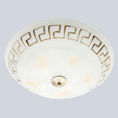 Светильник настенно-потолочный Brilliant 90207/31 Murciaкруглые светильники<br>Зачастую мы ищем идеальное освещение для своего дома и уделяем этому достаточно много времени. Так, например, если нам нужен светильник с количеством ламп - 1 и цвет плафонов должен быть - белый алебастр с орнаментом, а материал плафонов только стекло! То нам, как вариант, подойдет модель - лампа настенная или потолочная Brilliant 90207/31.<br><br>S освещ. до, м2: 4<br>Тип лампы: накаливания / энергосбережения / LED-светодиодная<br>Тип цоколя: E27<br>Цвет арматуры: бронзовый<br>Количество ламп: 1<br>Диаметр, мм мм: 290<br>Высота, мм: 100<br>MAX мощность ламп, Вт: 60