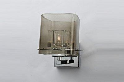 Светильник спот Lamplandia 9115 BlaskХай-тек<br>Стильный спот с  металлическим основанием цвета хром . Плафон прозрачный внутри дымчатый снаружи .<br><br>S освещ. до, м2: 2<br>Крепление: настольный<br>Тип товара: Светильник настенный бра<br>Тип цоколя: G9<br>Количество ламп: 1<br>MAX мощность ламп, Вт: 40<br>Цвет арматуры: серый