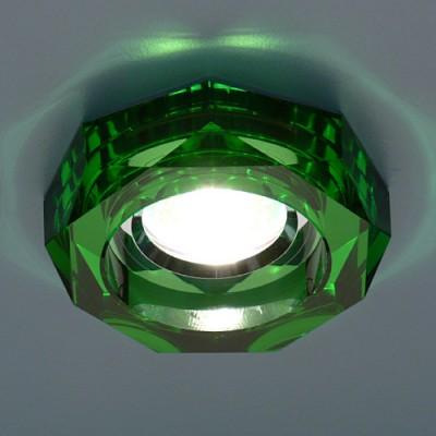 Светильник Электростандарт 9120 GR зеленыйвстраиваемые светильники стекло<br>