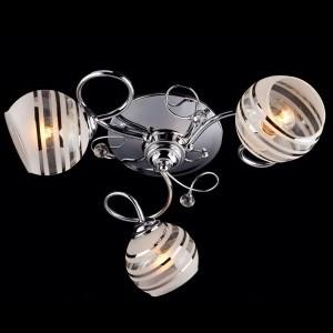 Люстра Евросвет 9134/3 хромПотолочные<br><br><br>Установка на натяжной потолок: Ограничено<br>S освещ. до, м2: 12<br>Крепление: Планка<br>Тип товара: светильник потолочный<br>Тип лампы: накаливания / энергосбережения / LED-светодиодная<br>Тип цоколя: E27<br>Количество ламп: 3<br>MAX мощность ламп, Вт: 60<br>Диаметр, мм мм: 480<br>Высота, мм: 180<br>Цвет арматуры: серебристый