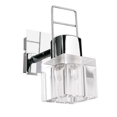 Светильник спот Lamplandia 91503 TechnoОдиночные<br>Стильная модель спотов выполнена в виде хромированного основания и квадратных плафонов из прозрачного хрусталя. Замечательно подходит для освещения прихожих.<br><br>S освещ. до, м2: 2<br>Крепление: настольный<br>Тип лампы: галогенная / LED-светодиодная<br>Тип цоколя: G9<br>Количество ламп: 1<br>Ширина, мм: 80<br>MAX мощность ламп, Вт: 40<br>Длина, мм: 120<br>Высота, мм: 20<br>Цвет арматуры: серый