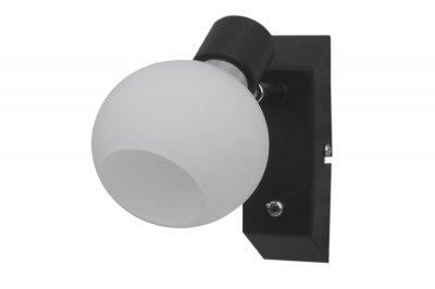Светильник спот Lamplandia 91897 Flankодиночные споты<br>Стильная модель спотов выполнена в виде темно-коричневого основания и круглых плафонов из стекла  матового цвета. Встроенный выключатель. Замечательно подходит для освещения прихожих.<br><br>S освещ. до, м2: 2<br>Крепление: потолочный<br>Тип цоколя: E14<br>Цвет арматуры: коричневый<br>Количество ламп: 1<br>MAX мощность ламп, Вт: 40