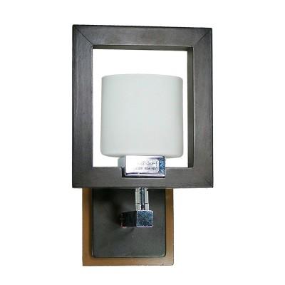 Светильник бра Lamplandia 91903 BestХай-тек<br>Бра, цвета венге с хромированным основанием из металла с плафонами матового цвета. Очень стильная модель замечательно вписывается в любой интерьер.<br><br>S освещ. до, м2: 2<br>Крепление: настенный<br>Тип лампы: галогенная / LED-светодиодная<br>Тип цоколя: G9<br>Количество ламп: 1<br>Ширина, мм: 250<br>MAX мощность ламп, Вт: 40<br>Длина, мм: 100<br>Высота, мм: 100<br>Цвет арматуры: серый