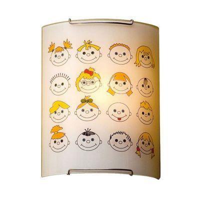 Citilux Смайлики CL921016 Светильник настенный браДля детской<br>Настенно потолочный светильник Citilux (Ситилюкс) CL921016 подходит как для установки в вертикальном положении - на стены, так и для установки в горизонтальном - на потолок. Для установки настенно потолочных светильников на натяжной потолок необходимо<br><br>S освещ. до, м2: 6<br>Тип лампы: накаливания / энергосбережения / LED-светодиодная<br>Тип цоколя: E27<br>Количество ламп: 1<br>Ширина, мм: 200<br>MAX мощность ламп, Вт: 100<br>Размеры: Стеклянный рассеиватель, Высота 25см, Ширина 20см, Глубина 9см.<br>Расстояние от стены, мм: 90<br>Высота, мм: 250<br>Поверхность арматуры: глянцевый<br>Цвет арматуры: серебристый