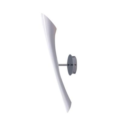 Светильник бра Mantra 923 POPБра хай тек стиля<br><br><br>Тип лампы: накаливания / энергосбережения / LED-светодиодная<br>Тип цоколя: E27<br>Цвет арматуры: белый<br>Количество ламп: 1<br>Ширина, мм: 120<br>Размеры: W 550 H 100 Выступ<br>Длина, мм: 280<br>Высота, мм: 5900<br>Оттенок (цвет): белый<br>MAX мощность ламп, Вт: 13
