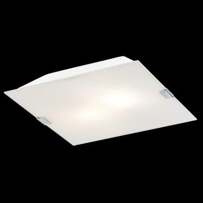 Eglo ALEA 1 92579 Настенно-потолочные светильникиКвадратные<br><br><br>Тип товара: Настенно-потолочные светильники<br>Тип лампы: накаливания / энергосбережения / LED-светодиодная<br>Тип цоколя: E14<br>MAX мощность ламп, Вт: 40<br>Размеры основания, мм: 0<br>Длина, мм: 290<br>Расстояние от стены, мм: 65<br>Высота, мм: 290<br>Оттенок (цвет): белый с декором<br>Цвет арматуры: серебристый<br>Общая мощность, Вт: 2X40W