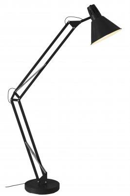 Светильник напольный Brilliant 92710/06 WinstonМеталлические<br>Оригинальный высокий торшер напольного типа<br><br>S освещ. до, м2: 4<br>Тип лампы: накаливания / энергосбережения / LED-светодиодная<br>Тип цоколя: E27<br>Количество ламп: 1<br>MAX мощность ламп, Вт: 60<br>Высота, мм: 1800<br>Цвет арматуры: черный