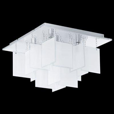 Eglo CONDRADA 1 92726 Настенно-потолочный светильникПотолочные<br>Компания «Светодом» предлагает широкий ассортимент люстр от известных производителей. Представленные в нашем каталоге товары выполнены из современных материалов и обладают отличным качеством. Благодаря широкому ассортименту Вы сможете найти у нас люстру под любой интерьер. Мы предлагаем как классические варианты, так и современные модели, отличающиеся лаконичностью и простотой форм.  Стильная люстра Eglo 92726 станет украшением любого дома. Эта модель от известного производителя не оставит равнодушным ценителей красивых и оригинальных предметов интерьера. Люстра Eglo 92726 обеспечит равномерное распределение света по всей комнате. При выборе обратите внимание на характеристики, позволяющие приобрести наиболее подходящую модель. Купить понравившуюся люстру по доступной цене Вы можете в интернет-магазине «Светодом».<br><br>Установка на натяжной потолок: Ограничено<br>S освещ. до, м2: 11<br>Крепление: Планка<br>Тип лампы: галогенная / LED-светодиодная<br>Тип цоколя: G9<br>Цвет арматуры: серебристый<br>Количество ламп: 5<br>Ширина, мм: 370<br>Размеры основания, мм: 0<br>Длина, мм: 370<br>Высота, мм: 235<br>Оттенок (цвет): белый<br>MAX мощность ламп, Вт: 33<br>Общая мощность, Вт: 5X33W