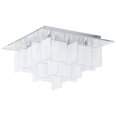 Eglo CONDRADA 1 92727 Настенно-потолочный светильникПотолочные<br>Компания «Светодом» предлагает широкий ассортимент люстр от известных производителей. Представленные в нашем каталоге товары выполнены из современных материалов и обладают отличным качеством. Благодаря широкому ассортименту Вы сможете найти у нас люстру под любой интерьер. Мы предлагаем как классические варианты, так и современные модели, отличающиеся лаконичностью и простотой форм.  Стильная люстра Eglo 92727 станет украшением любого дома. Эта модель от известного производителя не оставит равнодушным ценителей красивых и оригинальных предметов интерьера. Люстра Eglo 92727 обеспечит равномерное распределение света по всей комнате. При выборе обратите внимание на характеристики, позволяющие приобрести наиболее подходящую модель. Купить понравившуюся люстру по доступной цене Вы можете в интернет-магазине «Светодом».<br><br>Установка на натяжной потолок: Да<br>S освещ. до, м2: 9<br>Крепление: Планка<br>Тип лампы: галогенная / LED-светодиодная<br>Тип цоколя: G9<br>Количество ламп: 8<br>Ширина, мм: 470<br>MAX мощность ламп, Вт: 18<br>Размеры основания, мм: 0<br>Длина, мм: 470<br>Высота, мм: 300<br>Оттенок (цвет): белый<br>Цвет арматуры: серебристый<br>Общая мощность, Вт: 8X18W