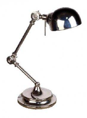 Лампа настольная Brilliant 92728/15 Zig ZagМорской стиль<br>Зачастую мы ищем идеальное освещение для своего дома и уделяем этому достаточно много времени. Так, например, если нам нужен светильник с количеством ламп - 1 и цвет плафонов должен быть - хром, а материал плафонов только металл! То нам, как вариант, подойдет модель - лампа настольная Brilliant 92728/15.<br><br>S освещ. до, м2: 4<br>Тип лампы: накаливания / энергосбережения / LED-светодиодная<br>Тип цоколя: E14<br>Цвет арматуры: серебристый<br>Количество ламп: 1<br>Диаметр, мм мм: 155<br>Высота, мм: 600<br>MAX мощность ламп, Вт: 60