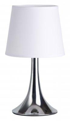 Светильник настольный Brilliant 92732/75 LomeСовременные<br>Настольная лампа – это не просто источник дополнительного освещения, но и оригинальный элемент декора. Его можно установить в спальне, гостиной, кабинете и других комнатах. Интернет-магазин «Светодом» предлагает настольные лампы разных стилей по доступным ценам. Благодаря большому ассортименту Вы обязательно найдете в нашем каталоге именно ту модель, которую искали.   Настольная лампа Brilliant 92732/75 – прекрасный вариант для завершения интерьера. Ее можно включить одновременно с люстрой для более яркого освещения или без нее для создания уютной атмосферы, настраивающей на отдых.   Купить настольную лампу Brilliant 92732/75 Вы можете с помощью виртуальной «Корзины» или по контактным номерам, указанным на сайте.<br><br>S освещ. до, м2: 2<br>Тип лампы: накаливания / энергосбережения / LED-светодиодная<br>Тип цоколя: E14<br>Цвет арматуры: серебристый<br>Количество ламп: 1<br>Диаметр, мм мм: 160<br>Высота, мм: 290<br>MAX мощность ламп, Вт: 40