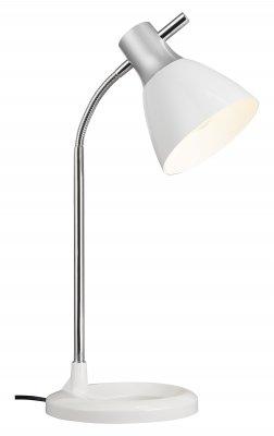 Светильник настольный Brilliant 92762/05 JanОфисные<br>Настольная лампа – это не просто источник дополнительного освещения, но и оригинальный элемент декора. Его можно установить в спальне, гостиной, кабинете и других комнатах. Интернет-магазин «Светодом» предлагает настольные лампы разных стилей по доступным ценам. Благодаря большому ассортименту Вы обязательно найдете в нашем каталоге именно ту модель, которую искали.   Настольная лампа Brilliant 92762/05 – прекрасный вариант для завершения интерьера. Ее можно включить одновременно с люстрой для более яркого освещения или без нее для создания уютной атмосферы, настраивающей на отдых.   Купить настольную лампу Brilliant 92762/05 Вы можете с помощью виртуальной «Корзины» или по контактным номерам, указанным на сайте.<br><br>S освещ. до, м2: 2<br>Тип лампы: накал-я - энергосбер-я<br>Тип цоколя: E14<br>Количество ламп: 1<br>MAX мощность ламп, Вт: 40<br>Диаметр, мм мм: 190<br>Высота, мм: 520<br>Цвет арматуры: белый