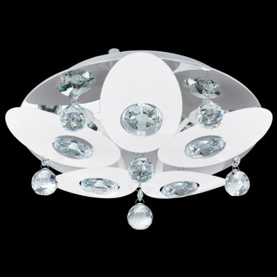 Eglo TESSERA 92769 Настенно-потолочный светильникПотолочные<br>Компания «Светодом» предлагает широкий ассортимент люстр от известных производителей. Представленные в нашем каталоге товары выполнены из современных материалов и обладают отличным качеством. Благодаря широкому ассортименту Вы сможете найти у нас люстру под любой интерьер. Мы предлагаем как классические варианты, так и современные модели, отличающиеся лаконичностью и простотой форм.  Стильная люстра Eglo 92769 станет украшением любого дома. Эта модель от известного производителя не оставит равнодушным ценителей красивых и оригинальных предметов интерьера. Люстра Eglo 92769 обеспечит равномерное распределение света по всей комнате. При выборе обратите внимание на характеристики, позволяющие приобрести наиболее подходящую модель. Купить понравившуюся люстру по доступной цене Вы можете в интернет-магазине «Светодом». Мы предлагаем доставку не только по Москве и Екатеринбурге, но и по всей России.<br><br>Установка на натяжной потолок: Ограничено<br>S освещ. до, м2: 6<br>Крепление: Планка<br>Тип лампы: галогенная / LED-светодиодная<br>Тип цоколя: G9<br>Количество ламп: 5<br>MAX мощность ламп, Вт: 18<br>Диаметр, мм мм: 320<br>Размеры основания, мм: 0<br>Высота, мм: 105<br>Оттенок (цвет): прозрачный<br>Цвет арматуры: серебристый<br>Общая мощность, Вт: 5X18W