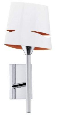 Eglo CAPITELLO 92807 Настенно-потолочный светильникХай-тек<br><br><br>Тип лампы: накаливания / энергосбережения / LED-светодиодная<br>Тип цоколя: E14<br>MAX мощность ламп, Вт: 40<br>Размеры основания, мм: 0<br>Длина, мм: 150<br>Расстояние от стены, мм: 115<br>Высота, мм: 305<br>Оттенок (цвет): белый, оранжевый<br>Цвет арматуры: серебристый<br>Общая мощность, Вт: 1X40W