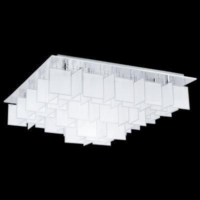 Eglo CONDRADA 1 92813 Настенно-потолочный светильникПотолочные<br>Компания «Светодом» предлагает широкий ассортимент люстр от известных производителей. Представленные в нашем каталоге товары выполнены из современных материалов и обладают отличным качеством. Благодаря широкому ассортименту Вы сможете найти у нас люстру под любой интерьер. Мы предлагаем как классические варианты, так и современные модели, отличающиеся лаконичностью и простотой форм.  Стильная люстра Eglo 92813 станет украшением любого дома. Эта модель от известного производителя не оставит равнодушным ценителей красивых и оригинальных предметов интерьера. Люстра Eglo 92813 обеспечит равномерное распределение света по всей комнате. При выборе обратите внимание на характеристики, позволяющие приобрести наиболее подходящую модель. Купить понравившуюся люстру по доступной цене Вы можете в интернет-магазине «Светодом».<br><br>Установка на натяжной потолок: Да<br>S освещ. до, м2: 19<br>Крепление: Планка<br>Тип лампы: галогенная / LED-светодиодная<br>Тип цоколя: G9<br>Цвет арматуры: серебристый<br>Количество ламп: 16<br>Ширина, мм: 770<br>Размеры основания, мм: 0<br>Длина, мм: 770<br>Высота, мм: 485<br>Оттенок (цвет): белый, прозрачный<br>MAX мощность ламп, Вт: 18<br>Общая мощность, Вт: 16X18W