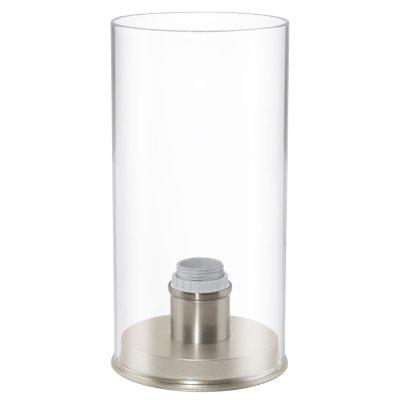 Eglo MY CHOICE 92843 СветильникСовременные<br><br><br>Тип товара: Светильник<br>Скидка, %: 67<br>Тип лампы: накал-я - энергосбер-я<br>Тип цоколя: E14<br>Количество ламп: 1<br>MAX мощность ламп, Вт: 40<br>Диаметр, мм мм: 100<br>Размеры основания, мм: 105<br>Высота, мм: 205<br>Оттенок (цвет): прозрачный<br>Цвет арматуры: серый<br>Общая мощность, Вт: 1X40W