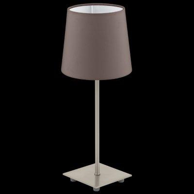 Eglo LAURITZ 92882 Настольная лампаС абажуром<br>Настольная лампа – это не просто источник дополнительного освещения, но и оригинальный элемент декора. Его можно установить в спальне, гостиной, кабинете и других комнатах. Интернет-магазин «Светодом» предлагает настольные лампы разных стилей по доступным ценам. Благодаря большому ассортименту Вы обязательно найдете в нашем каталоге именно ту модель, которую искали.   Настольная лампа Eglo 92882 – прекрасный вариант для завершения интерьера. Ее можно включить одновременно с люстрой для более яркого освещения или без нее для создания уютной атмосферы, настраивающей на отдых.   Купить настольную лампу Eglo 92882 Вы можете с помощью виртуальной «Корзины» или по контактным номерам, указанным на сайте.<br><br>Тип лампы: накал-я - энергосбер-я<br>Тип цоколя: E14<br>MAX мощность ламп, Вт: 40<br>Диаметр, мм мм: 155<br>Размеры основания, мм: 110 / 110<br>Высота, мм: 395<br>Оттенок (цвет): коричневый<br>Цвет арматуры: серый<br>Общая мощность, Вт: 1X40W