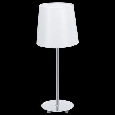 Eglo LAURITZ 92884 Настольная лампаС абажуром<br>Настольная лампа – это не просто источник дополнительного освещения, но и оригинальный элемент декора. Его можно установить в спальне, гостиной, кабинете и других комнатах. Интернет-магазин «Светодом» предлагает настольные лампы разных стилей по доступным ценам. Благодаря большому ассортименту Вы обязательно найдете в нашем каталоге именно ту модель, которую искали.   Настольная лампа Eglo 92884 – прекрасный вариант для завершения интерьера. Ее можно включить одновременно с люстрой для более яркого освещения или без нее для создания уютной атмосферы, настраивающей на отдых.   Купить настольную лампу Eglo 92884 Вы можете с помощью виртуальной «Корзины» или по контактным номерам, указанным на сайте.<br><br>Тип лампы: накал-я - энергосбер-я<br>Тип цоколя: E14<br>MAX мощность ламп, Вт: 40<br>Диаметр, мм мм: 155<br>Размеры основания, мм: 120<br>Высота, мм: 395<br>Оттенок (цвет): белый<br>Цвет арматуры: серебристый<br>Общая мощность, Вт: 1X40W