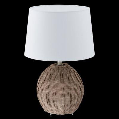 Eglo ROIA 92913 Настольная лампаДеревянные и ротанг<br>Настольная лампа – это не просто источник дополнительного освещения, но и оригинальный элемент декора. Его можно установить в спальне, гостиной, кабинете и других комнатах. Интернет-магазин «Светодом» предлагает настольные лампы разных стилей по доступным ценам. Благодаря большому ассортименту Вы обязательно найдете в нашем каталоге именно ту модель, которую искали.   Настольная лампа Eglo 92913 – прекрасный вариант для завершения интерьера. Ее можно включить одновременно с люстрой для более яркого освещения или без нее для создания уютной атмосферы, настраивающей на отдых.   Купить настольную лампу Eglo 92913 Вы можете с помощью виртуальной «Корзины» или по контактным номерам, указанным на сайте.<br><br>S освещ. до, м2: 4<br>Тип лампы: накаливания / энергосбережения / LED-светодиодная<br>Тип цоколя: E27<br>Количество ламп: 1<br>MAX мощность ламп, Вт: 60<br>Диаметр, мм мм: 270<br>Размеры основания, мм: 0<br>Высота, мм: 400<br>Оттенок (цвет): бежевый<br>Цвет арматуры: серый<br>Общая мощность, Вт: 1X60W