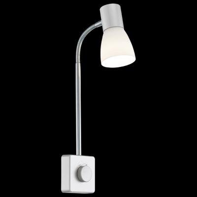 Eglo NERA 92968 Светильник поворотный спотГибкие<br><br><br>Тип товара: Светильник поворотный спот<br>Скидка, %: 11<br>Тип лампы: накаливания / энергосбережения / LED-светодиодная<br>Тип цоколя: E14<br>MAX мощность ламп, Вт: 25<br>Размеры основания, мм: 0<br>Длина, мм: 80<br>Расстояние от стены, мм: 150<br>Высота, мм: 400<br>Оттенок (цвет): белый<br>Цвет арматуры: серый<br>Общая мощность, Вт: 1X25W