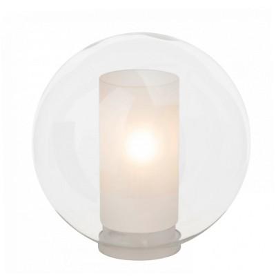 Лампа настольная Brilliant 92987/00 ShadowВ виде шара<br><br><br>Тип товара: Настольная лампа<br>Тип лампы: Накаливания / энергосбережения / светодиодная<br>Тип цоколя: Е14<br>Диаметр, мм мм: 250<br>Высота, мм: 260<br>Цвет арматуры: белый/прозрачный