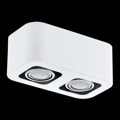 Eglo TORENO 93012 Настенно-потолочные светильникиКарданные<br><br><br>Цветовая t, К: 3000 (теплый белый)<br>Тип лампы: галогенная/LED<br>Тип цоколя: GU10<br>Количество ламп: 2<br>Ширина, мм: 130<br>MAX мощность ламп, Вт: 5<br>Размеры основания, мм: 0<br>Длина, мм: 240<br>Высота, мм: 95<br>Цвет арматуры: белый, хром<br>Общая мощность, Вт: 2X5W