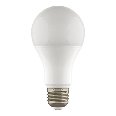 Лампа светодиодная Lightstar 930122Светодиодные лампы LED с цоколем E27<br>Тип: Светодиодная лампа; Напряжение (V): 220; Тип колбы: А65 - стандартная лампа-груша, диаметр колбы 65мм;Цоколь: Е27; Мощность (W): 12; Эквивалентная мощность лампы накаливания (W): 120; Угол рассеивания (G): 180; Световой поток: 950LM; Особенности (Опции): хромированный корпус, матовая колба ; Цветопередача: 85; Цветовая температура (К): 3000; Срок службы (Ч): 20000; Диммируемость: ;<br><br>Цветовая t, К: WW - теплый белый 2700-3000 К (3000)<br>Тип лампы: LED - светодиодная<br>Тип цоколя: E27<br>Количество ламп: 1<br>Диаметр, мм мм: 65<br>Высота, мм: 125<br>MAX мощность ламп, Вт: 12<br>Общая мощность, Вт: 120