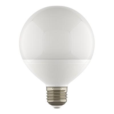 Лампа шар Lightstar 930312 G95 13WСветодиодная лампа шар<br>В интернет-магазине «Светодом» можно купить не только люстры и светильники, но и лампочки. В нашем каталоге представлены светодиодные, галогенные, энергосберегающие модели и лампы накаливания. В ассортименте имеются изделия разной мощности, поэтому у нас Вы сможете приобрести все необходимое для освещения. <br> Лампа Lightstar 930312 обеспечит отличное качество освещения. При покупке ознакомьтесь с параметрами в разделе «Характеристики», чтобы не ошибиться в выборе. Там же указано, для каких осветительных приборов Вы можете использовать лампу Lightstar 930312Lightstar 930312. <br> Для оформления покупки воспользуйтесь «Корзиной». При наличии вопросов Вы можете позвонить нашим менеджерам по одному из контактных номеров. Мы доставляем заказы в Москву, Екатеринбург и другие города России.<br><br>Цветовая t, К: WW - теплый белый 2700-3000 К (3000)<br>Тип лампы: LED - светодиодная<br>Тип цоколя: E27<br>Диаметр, мм мм: 95<br>Высота, мм: 127<br>Поверхность арматуры: матовая<br>Оттенок (цвет): белый<br>MAX мощность ламп, Вт: 13<br>Общая мощность, Вт: 130