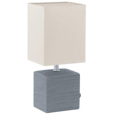 Eglo MATARO 93044 Настольная лампаСовременные<br>Настольная лампа – это не просто источник дополнительного освещения, но и оригинальный элемент декора. Его можно установить в спальне, гостиной, кабинете и других комнатах. Интернет-магазин «Светодом» предлагает настольные лампы разных стилей по доступным ценам. Благодаря большому ассортименту Вы обязательно найдете в нашем каталоге именно ту модель, которую искали. <br> Настольная лампа Eglo 93044 – прекрасный вариант для завершения интерьера. Ее можно включить одновременно с люстрой для более яркого освещения или без нее для создания уютной атмосферы, настраивающей на отдых. <br> Купить настольную лампу Eglo 93044 Вы можете с помощью виртуальной «Корзины» или по контактным номерам, указанным на сайте.<br><br>Тип цоколя: E14<br>Цвет арматуры: серый<br>Ширина, мм: 130<br>Размеры основания, мм: 105 / 85<br>Длина, мм: 130<br>Высота, мм: 300<br>Оттенок (цвет): белый<br>Общая мощность, Вт: 1X40W