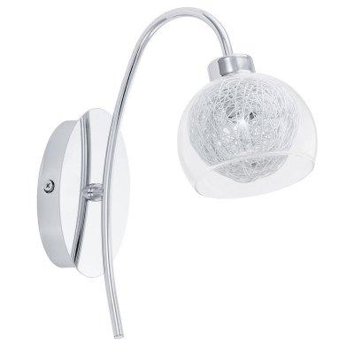 Eglo OVIEDO 93057 Настенно-потолочный светильникХай-тек<br><br><br>Тип лампы: галогенная / LED-светодиодная<br>Тип цоколя: G9<br>Цвет арматуры: серебристый<br>Размеры основания, мм: 0<br>Длина, мм: 100<br>Расстояние от стены, мм: 200<br>Высота, мм: 235<br>Оттенок (цвет): прозрачный, алюминий<br>MAX мощность ламп, Вт: 33<br>Общая мощность, Вт: 1X33W