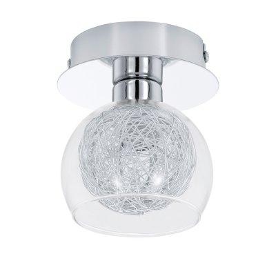 Eglo OVIEDO 1 93066 Светильник поворотный спотХай-тек<br><br><br>S освещ. до, м2: 2<br>Тип лампы: галогенная / LED-светодиодная<br>Тип цоколя: G9<br>Количество ламп: 1<br>MAX мощность ламп, Вт: 33<br>Диаметр, мм мм: 100<br>Размеры основания, мм: 0<br>Высота, мм: 115<br>Оттенок (цвет): прозрачный, алюминий<br>Цвет арматуры: серебристый<br>Общая мощность, Вт: 1X33W