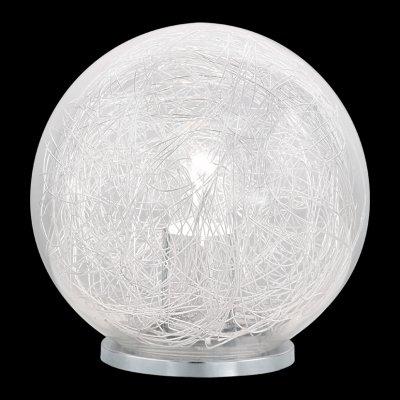 Eglo LUBERIO 93075 Настольная лампаВ виде шара<br>Настольная лампа – это не просто источник дополнительного освещения, но и оригинальный элемент декора. Его можно установить в спальне, гостиной, кабинете и других комнатах. Интернет-магазин «Светодом» предлагает настольные лампы разных стилей по доступным ценам. Благодаря большому ассортименту Вы обязательно найдете в нашем каталоге именно ту модель, которую искали.   Настольная лампа Eglo 93075 – прекрасный вариант для завершения интерьера. Ее можно включить одновременно с люстрой для более яркого освещения или без нее для создания уютной атмосферы, настраивающей на отдых.   Купить настольную лампу Eglo 93075 Вы можете с помощью виртуальной «Корзины» или по контактным номерам, указанным на сайте.<br><br>Тип лампы: накал-я - энергосбер-я<br>Тип цоколя: E27<br>MAX мощность ламп, Вт: 60<br>Диаметр, мм мм: 200<br>Размеры основания, мм: 115<br>Высота, мм: 200<br>Оттенок (цвет): прозрачный, алюминий<br>Цвет арматуры: серебристый<br>Общая мощность, Вт: 1X60W