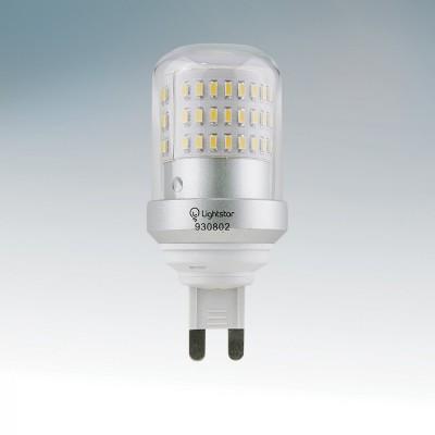 Лампа светодиодная Lightstar 930804Капсульные G4 12v<br><br><br>Тип товара: Лампа светодиодная<br>Скидка, %: 5<br>Цветовая t, К: 4500<br>Тип лампы: LED - светодиодная<br>Тип цоколя: G9<br>MAX мощность ламп, Вт: 9