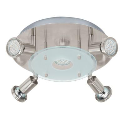 Настенно-потолочный светильник Eglo 93083 PAWEDOспоты 4 лампы<br>Светильники-споты – это оригинальные изделия с современным дизайном. Они позволяют не ограничивать свою фантазию при выборе освещения для интерьера. Такие модели обеспечивают достаточно качественный свет. Благодаря компактным размерам Вы можете использовать несколько спотов для одного помещения.  Интернет-магазин «Светодом» предлагает необычный светильник-спот Eglo 93083 по привлекательной цене. Эта модель станет отличным дополнением к люстре, выполненной в том же стиле. Перед оформлением заказа изучите характеристики изделия.  Купить светильник-спот Eglo 93083 в нашем онлайн-магазине Вы можете либо с помощью формы на сайте, либо по указанным выше телефонам. Обратите внимание, что у нас склады не только в Москве и Екатеринбурге, но и других городах России.