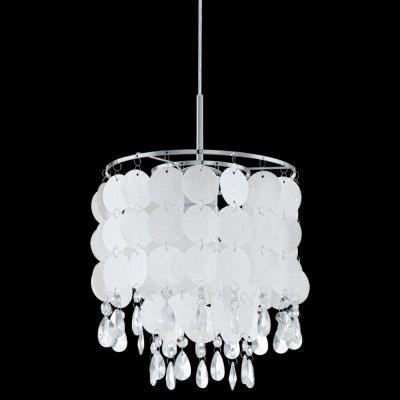 Eglo FEDRA 2 93092 Светильник подвеснойОдиночные<br><br><br>Тип товара: Светильник подвесной<br>Тип лампы: накаливания / энергосбережения / LED-светодиодная<br>Тип цоколя: E27<br>MAX мощность ламп, Вт: 60<br>Диаметр, мм мм: 250<br>Размеры основания, мм: 0<br>Высота, мм: 1100<br>Оттенок (цвет): жемчужный, прозрачный<br>Цвет арматуры: серебристый<br>Общая мощность, Вт: 1X60W