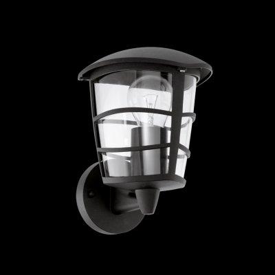 Eglo ALORIA 93097 светильник уличныйНастенные<br>Обеспечение качественного уличного освещения – важная задача для владельцев коттеджей. Компания «Светодом» предлагает современные светильники, которые порадуют Вас отличным исполнением. В нашем каталоге представлена продукция известных производителей, пользующихся популярностью благодаря высокому качеству выпускаемых товаров.   Уличный светильник Eglo 93097 не просто обеспечит качественное освещение, но и станет украшением Вашего участка. Модель выполнена из современных материалов и имеет влагозащитный корпус, благодаря которому ей не страшны осадки.   Купить уличный светильник Eglo 93097, представленный в нашем каталоге, можно с помощью онлайн-формы для заказа. Чтобы задать имеющиеся вопросы, звоните нам по указанным телефонам.<br><br>Тип лампы: накаливания / энергосбережения / LED-светодиодная<br>Тип цоколя: E27<br>MAX мощность ламп, Вт: 60<br>Длина, мм: 170<br>Расстояние от стены, мм: 190<br>Высота, мм: 225<br>Оттенок (цвет): прозрачный<br>Цвет арматуры: черный<br>Общая мощность, Вт: 2