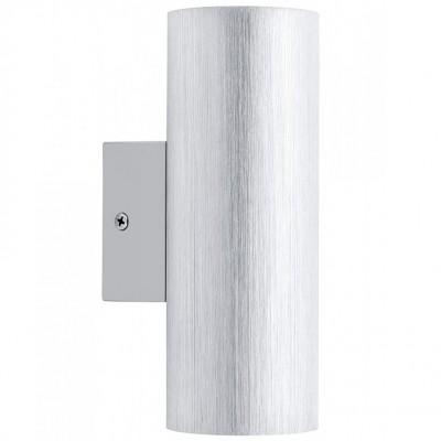 Eglo ONO 1 93125 Настенно-потолочный светильникХай-тек<br><br><br>Цветовая t, К: 3000 (теплый белый)<br>Тип лампы: галогенная / LED-светодиодная<br>Тип цоколя: GU10<br>Количество ламп: 2<br>MAX мощность ламп, Вт: 5<br>Диаметр, мм мм: 65<br>Размеры основания, мм: 0<br>Расстояние от стены, мм: 90<br>Высота, мм: 176<br>Цвет арматуры: серый<br>Общая мощность, Вт: 2X3W