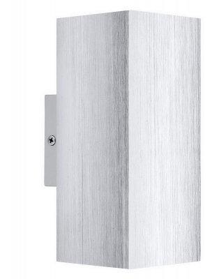 Eglo MADRAS 2 93127 Настенно-потолочный светильникХай-тек<br><br><br>Цветовая t, К: 3000 (теплый белый)<br>Тип лампы: галогенная / LED-светодиодная<br>Тип цоколя: GU10<br>MAX мощность ламп, Вт: 3<br>Размеры основания, мм: 0<br>Длина, мм: 75<br>Расстояние от стены, мм: 100<br>Высота, мм: 180<br>Цвет арматуры: серый<br>Общая мощность, Вт: 2X3W