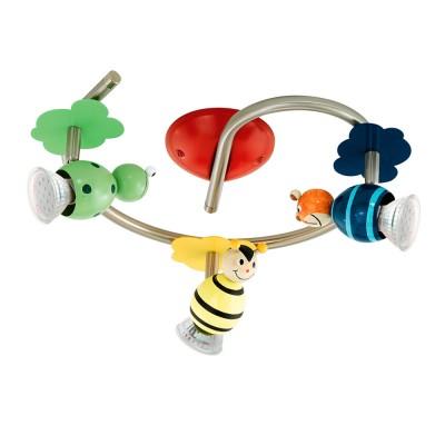 Eglo TAYA 1 93142 Детский светильникПотолочные<br><br><br>Установка на натяжной потолок: Ограничено<br>Крепление: Планка<br>Тип товара: Детский светильник<br>Цветовая t, К: 3000 (теплый белый)<br>Тип лампы: галогенная / LED-светодиодная<br>Тип цоколя: GU10<br>Количество ламп: 3<br>Ширина, мм: 255<br>MAX мощность ламп, Вт: 3<br>Размеры основания, мм: 0<br>Длина, мм: 295<br>Цвет арматуры: серый<br>Общая мощность, Вт: 3X3W