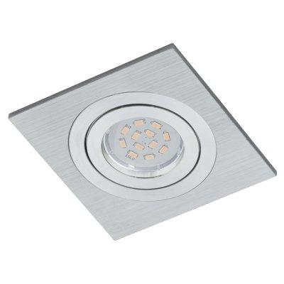 Eglo TERNI 1 93153 Встраиваемые и накладные светильникиКвадратные LED<br><br><br>Цветовая t, К: 3000 (теплый белый)<br>Тип цоколя: GU10<br>Ширина, мм: 95<br>Размеры основания, мм: 0<br>Диаметр врезного отверстия, мм: 95<br>Длина, мм: 95<br>Высота, мм: 4<br>Цвет арматуры: алюминий чесаный<br>Общая мощность, Вт: 1X5W